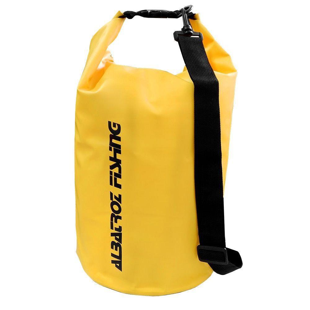 Bolsa Impermeável Albatroz Fishing Camp Bag Amarela 15 Litros