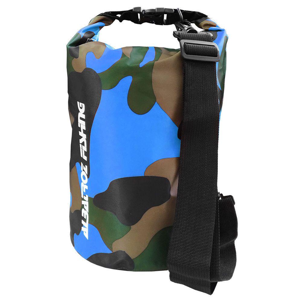 Bolsa Impermeável Albatroz Fishing Camp Bag Camuflada Azul 20 Litros