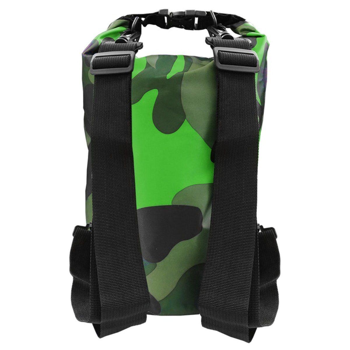 Bolsa Impermeável Albatroz Fishing Camp Bag Camuflada Verde 10 Litros