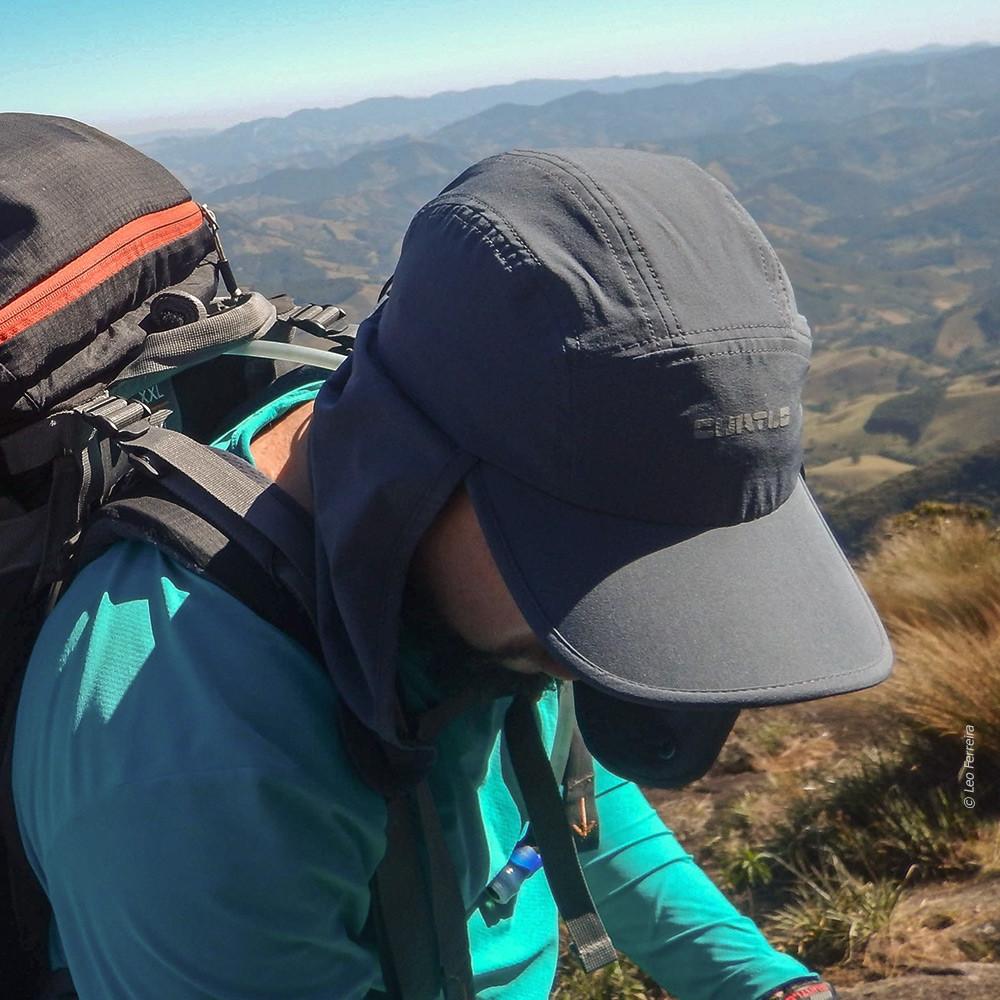 Boné Curtlo Expedition EC50+ Proteção Solar - Caqui