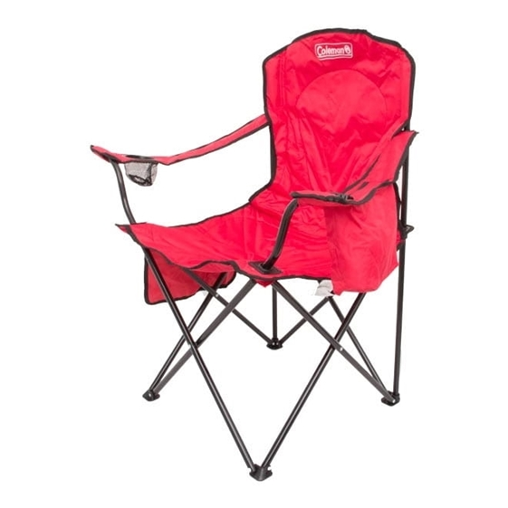 Cadeira Dobrável com Cooler Coleman - Vermelha