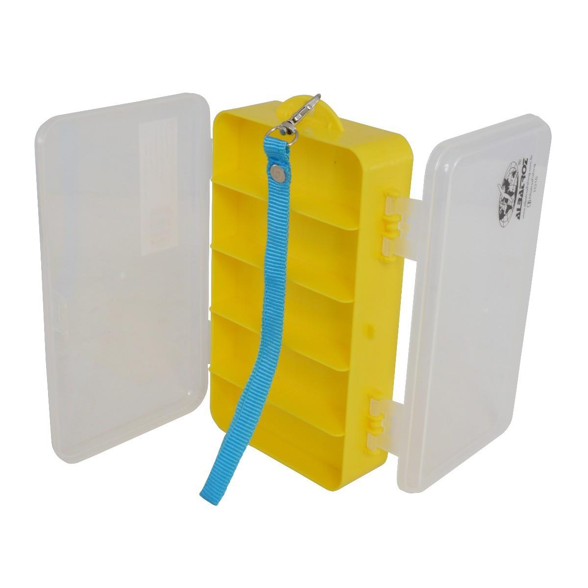 Estojo Plástico Organizador Albatroz Fishing Amarela H316