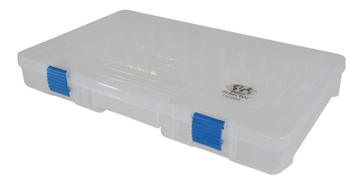Estojo Plástico Organizador Albatroz Fishing Transparente HZ004