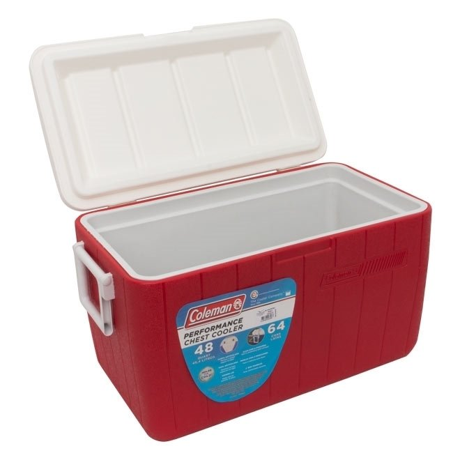 Caixa Cooler Térmica Coleman 48QT 45,4L - Vermelha