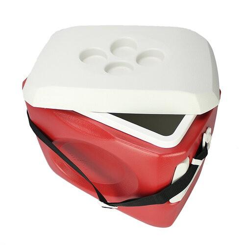 Caixa Térmica Cooler Invicta 24L c/ Alças - Vermelho Velvet