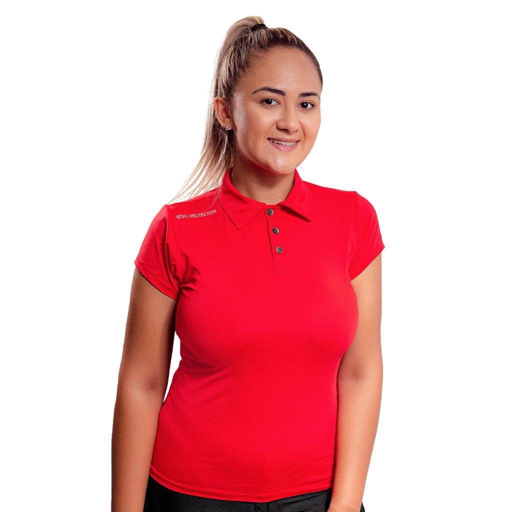 Camisa Polo Vitho Feminina Proteção UV +50 Lollipop