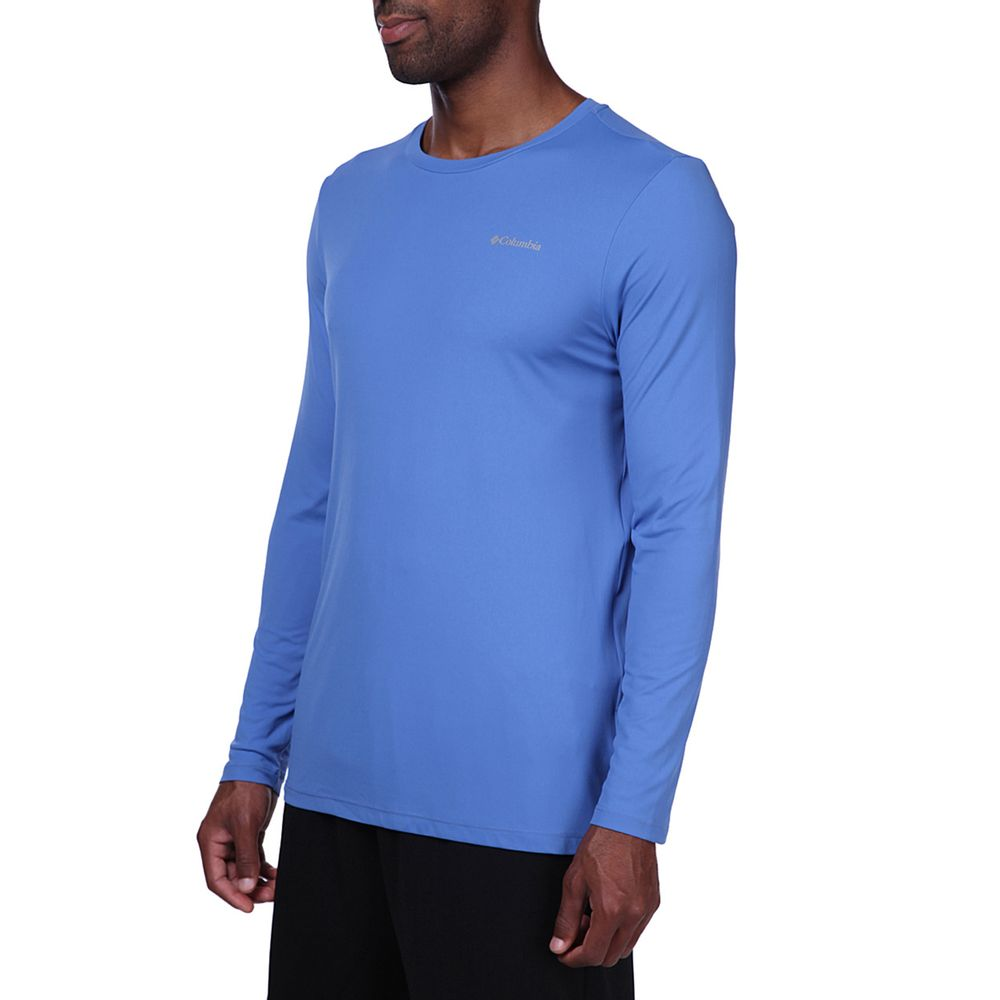 Camiseta Columbia Neblina  Masculina M/L - Azul Carbon