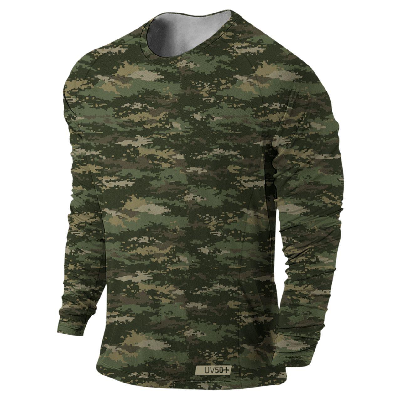 Camiseta Masculina Prolife Army Camuflada