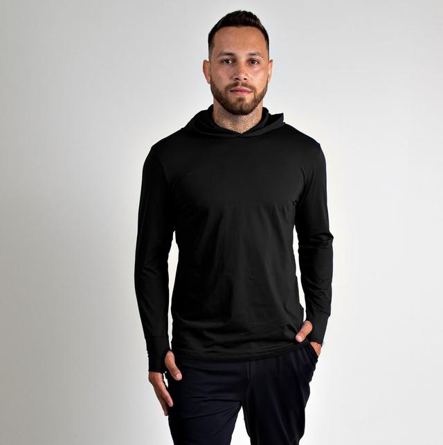 Camiseta Masculina Vitho C/ Capuz Proteção UV50+ Preto