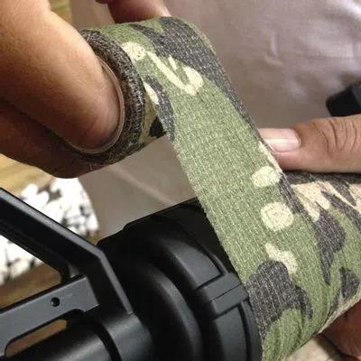 Camo Tape Fita Adesiva Para Armas Nautika Tático - Verde Oliva