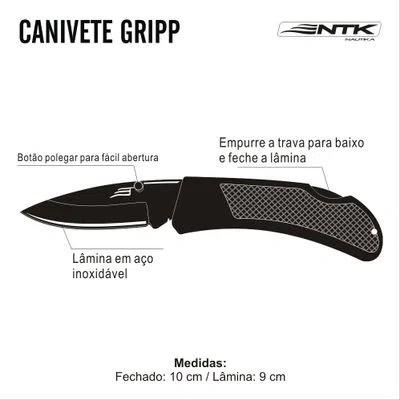 Canivete Nautika Gripp C/ Lâmica Forjada Artesanal