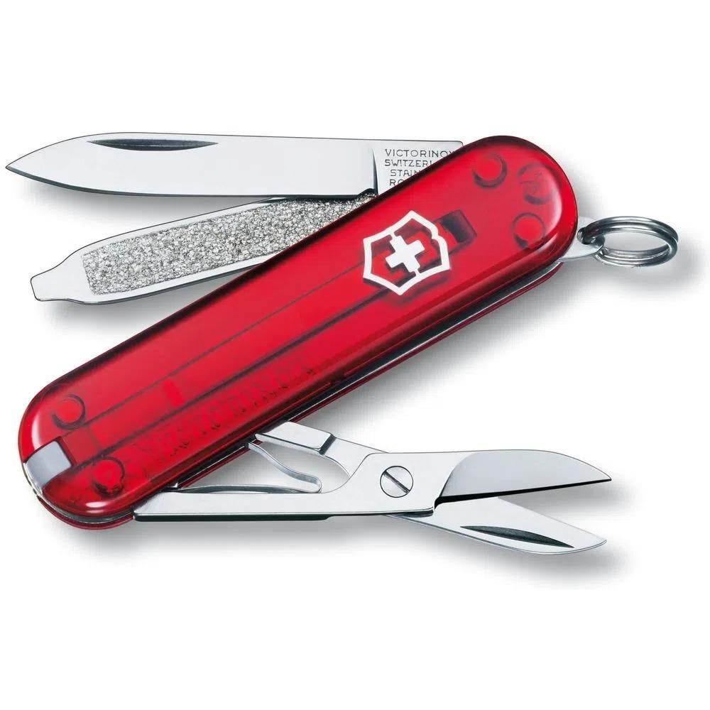 Canivete Suíço Victorinox Classic SD 0.6223.T - Red Trans