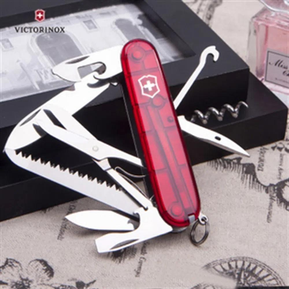Canivete Suíço Victorinox Huntsman 1.3713.3.T - Verm Translúcido
