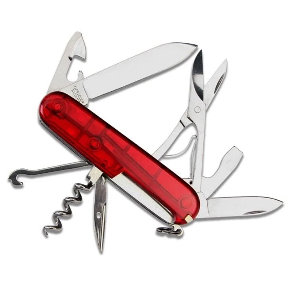 Canivete Suíço Victorinox Climber Red Translu 14F 1.3703.T