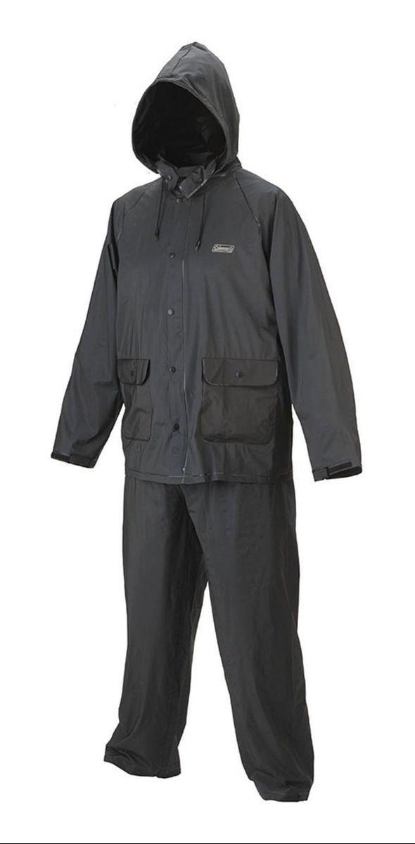 Capa De Chuva Coleman Rain Suit PVC 20mm G - Preta