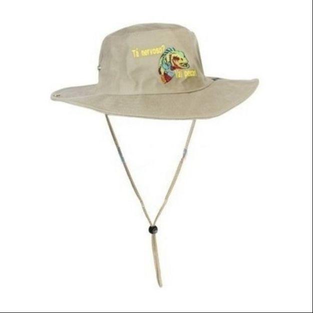 Chapéu Safari Jogá Caqui Bordado