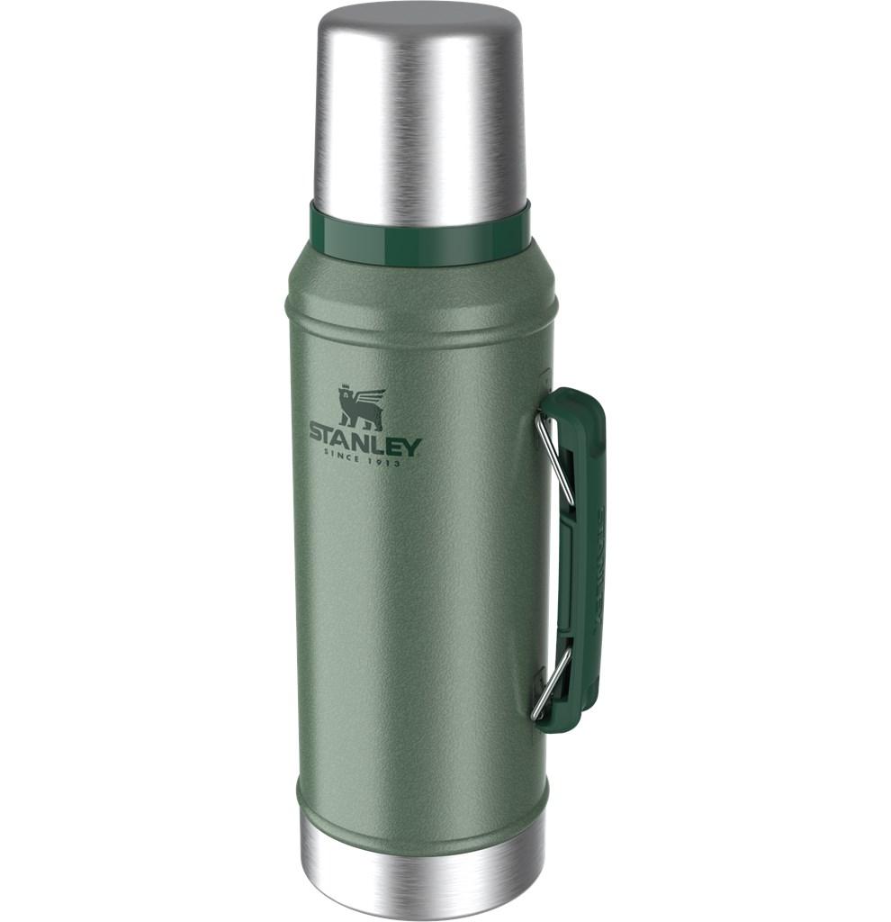 Garrafa Térmica Stanley Classic Green 950ML Tampa C/ Parede Dupla