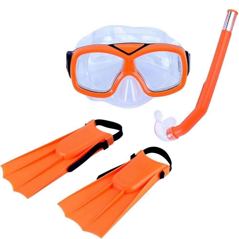 Kit de Mergullho Nautika Diver Laranja Infantil