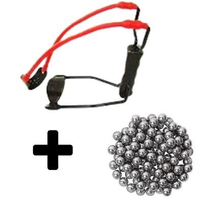 Kit Nautika Atiradeira Estilingue + Cj de 100 esferas