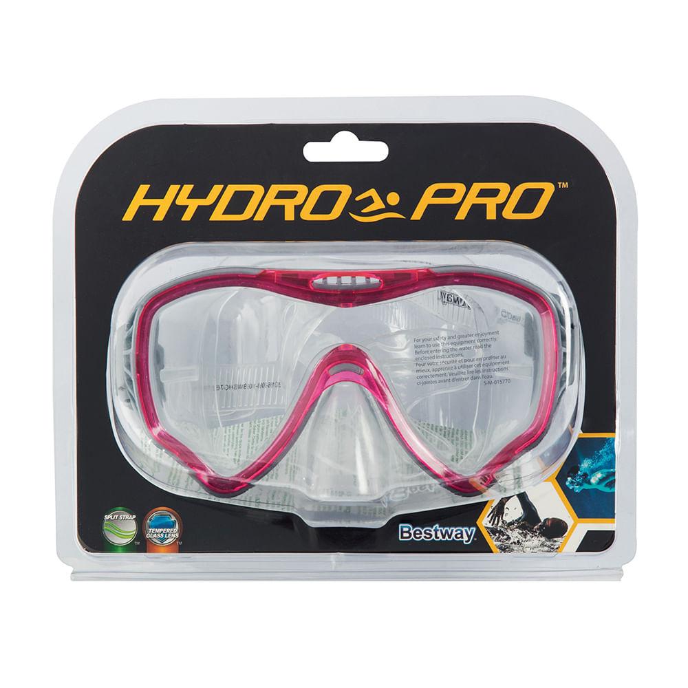 Máscara de Mergulho Bestway Hydro Pro Submira Ajustável - Rosa