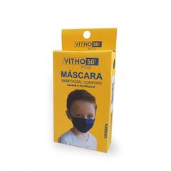 Kit 5 Máscaras Proteção Vitho Confort 50+ UV Infantil - Marinho