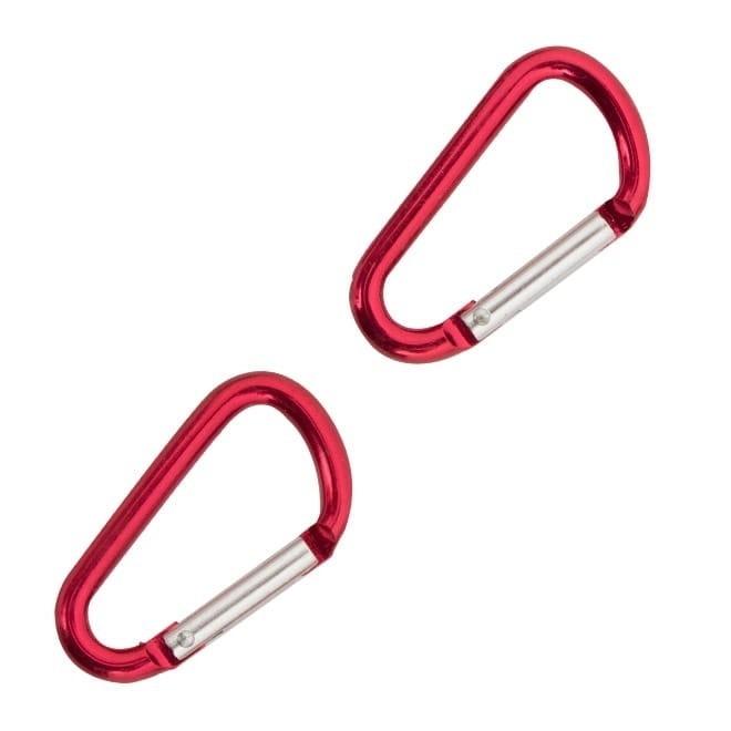 Mini Mosquetão Coghlans 5mm 2 Unidades Vermelho