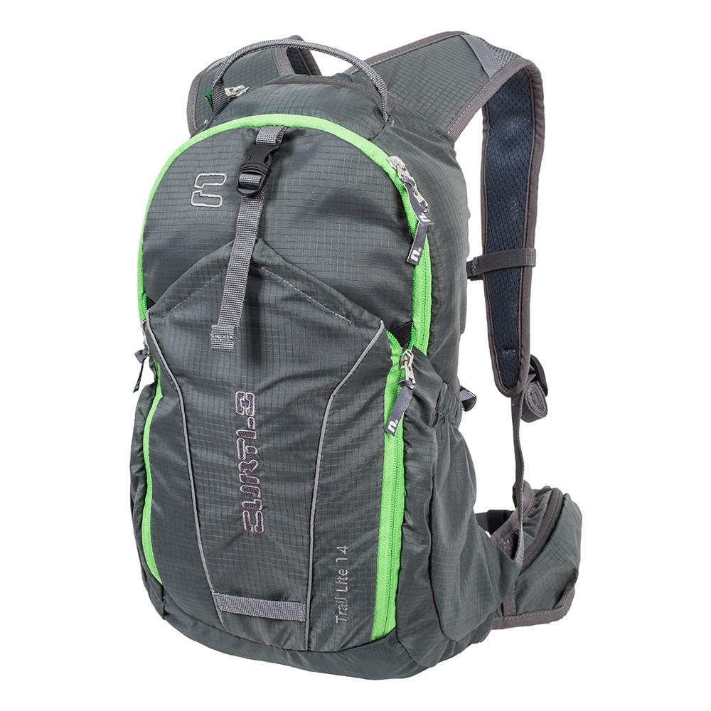Mochila Curtlo Trail Lite 14L Compartimento P/ Reservatório - Cinza/Verde