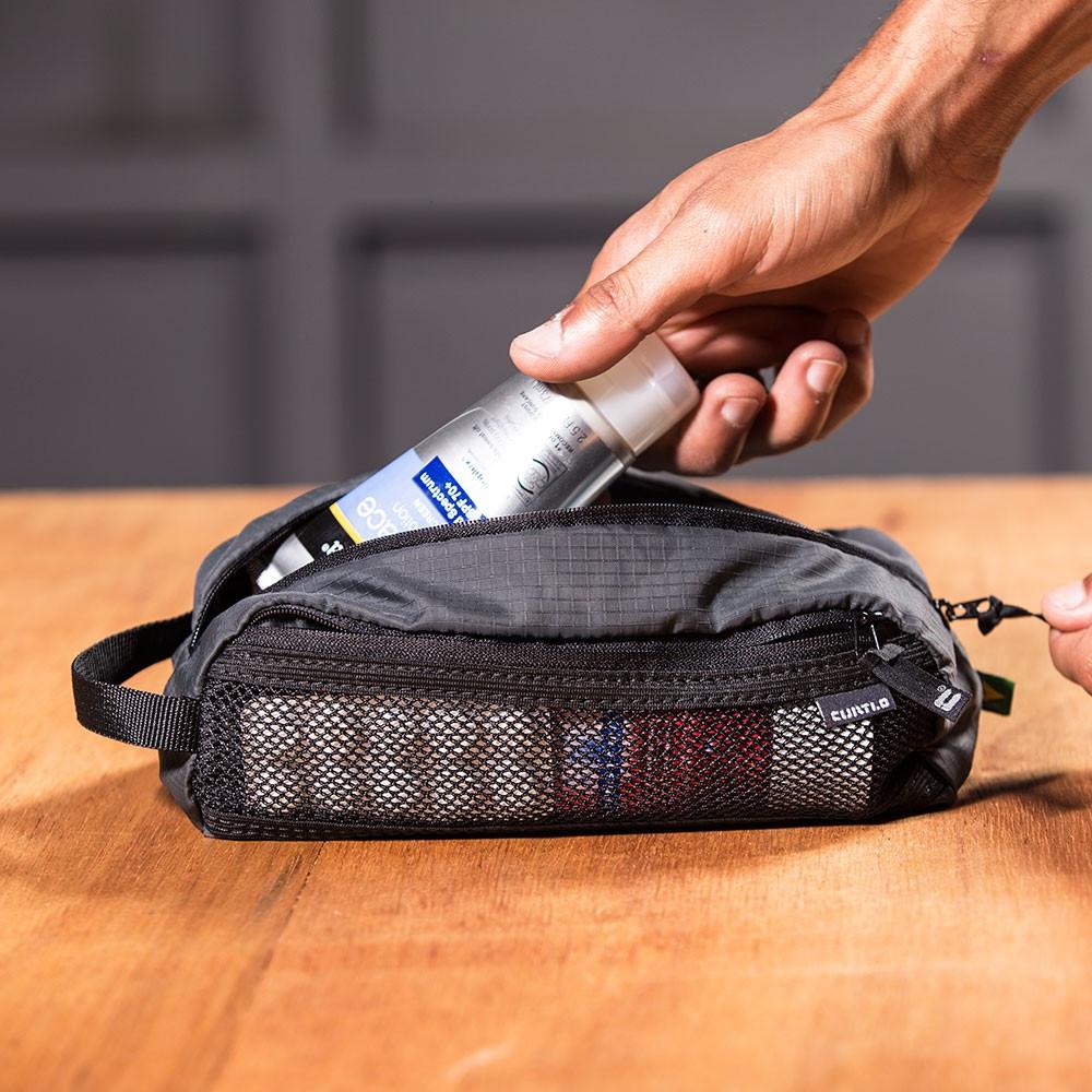 Necessaire Curtlo Light Kit 1,2L P C/ Alça de Mão - Chumbo
