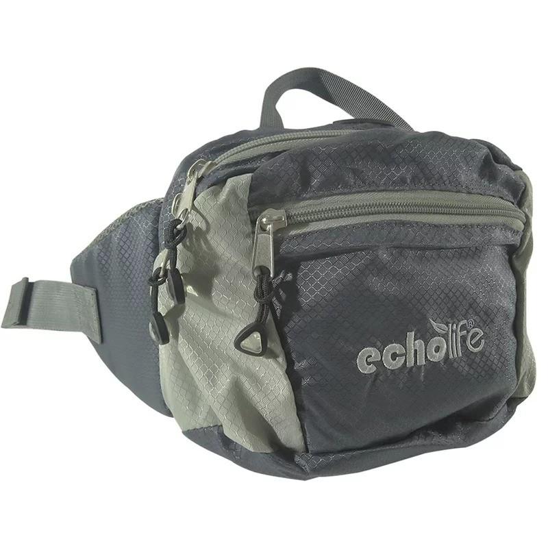 Pochete EchoLife Conga C/ Bolso Principal e Frontal - Cinza