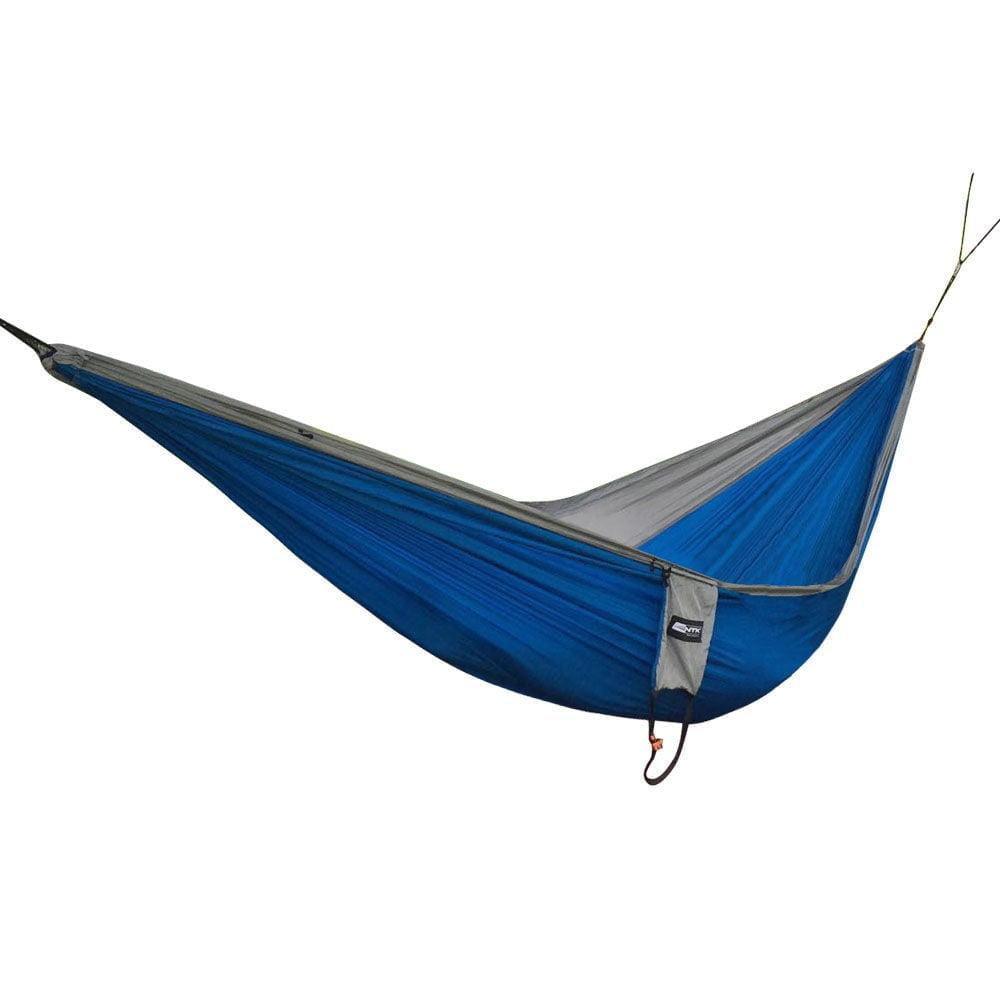 Rede para Descanso Nautika Kokun Solteiro Azul e Cinza