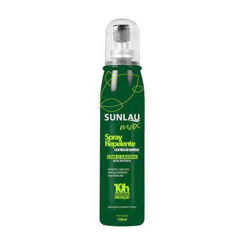 Repelente Contra Insetos Max Em Spray Sunlau - 100Ml