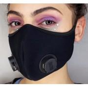 Kit 10 Mascaras Neoprene Com Respiradores Duplo Velcro Atrás