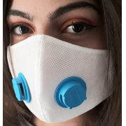 Kit 10 Máscaras Proteção TNT DUPLO COM RESPIRADOR + CLIP NASAL