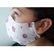 Kit 5 Máscaras Proteção Tricoline ou Algodão + Forro de TNT