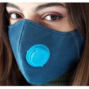 Kit 10 Máscaras Proteção TNT DUPLO COM RESPIRADOR AZUL