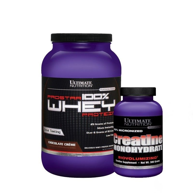 Kit Ultimate Nutrition (Prostar Whey 907g + Creatina 300g)