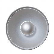 Beauty Dish Rebatedor Fotográfico Prata para Flash de Estúdio com difusor Greika YA5047
