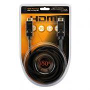 Cabo HDMI 1.4 4K UltraHD 3D com 19 Pinos e Plug 180º Chip Sce