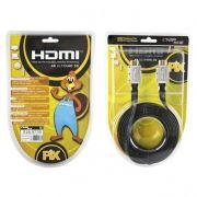 Cabo HDMI Flat 1.4 Full HD 3D com Pontas Desmontáveis Chip Sce