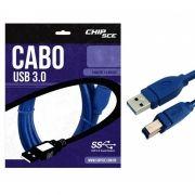 Cabo USB 3.0 A Macho x B Macho Chip Sce