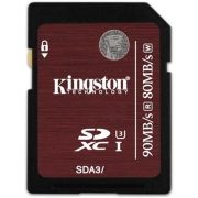 Cartão de Memória Kingston SD Classe 3 (U3) 4K 2K UHS 90MB/s - SDA3