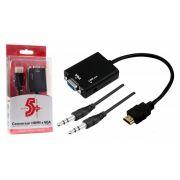 Conversor HDMI para VGA com Saída de Áudio 1080p Chip Sce