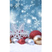 Fundo Infinito Fotográfico Temático em Tecido Lavável Dry-fit - Tema Natal 20