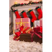 Fundo Infinito Fotográfico Temático em Tecido Lavável Dry-fit - Tema Natal 36