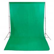 Fundo Infinito Sou Foto em Tecido Muslin Verde Chroma Key para Estúdio Fotográfico