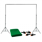Fundo Verde Chroma Key 1,5m x 2m Completo com Suporte SFI-243 + 4 Grampos