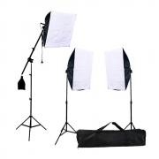 Iluminação para Estúdio Fotográfico SB-03K Softbox Duplo e Braço Girafa
