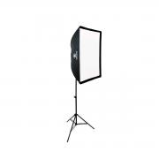 Iluminação para Foto e Vídeo com Softbox Universal 60x90, Soquete ATEK e Tripé de 2m