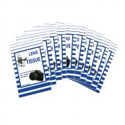 Kit com 10 Blocos de Papel Sou Foto KLC-002 para Limpeza de Lentes Fotográficas e Óticas