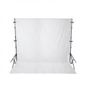 Kit com Suporte YS-300, Fundo Infinito Oxford Branco 3m x 5m e Grampos Alicate para Estúdios de Fotografia